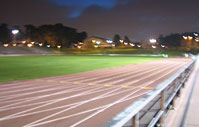 San Francisco boot camp - outdoor group fitness class at Kezar Stadium, track and field in SF